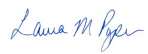 Leanne Fawcett Headmaster's signature